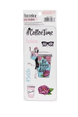 Наклейки для телефона Coffee time