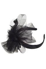 Обруч на голову маскарадный для взрослых Черное перо