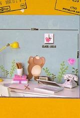Часы настенные Мишка и бабочка