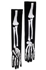 Перчатки маскарадные для взрослых Скелет