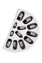 Набор ногтей накладных Череп и кости