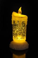 Украшение для интерьера светящееся Свеча-Метель