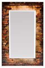 Зеркало настенное Кирпичная стена