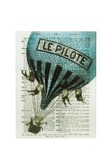 Репродукция Ожившие книги - Воздушный шар