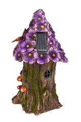 Фигурка садовая с фонарем Цветочный домик