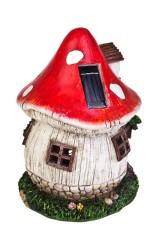 Фигурка садовая с фонарем Домик-мухомор