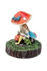 Фигурка садовая с фонарем Фея под грибочком