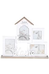 Рамка для 4-х фото Любимый дом