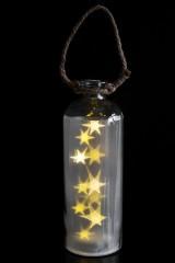 Украшение для интерьера светящееся Звезды в бутылке
