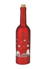 Украшение для интерьера светящееся Бутылка - Зимний лес