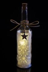 Украшение для интерьера светящееся Бутылка - Яркие звезды