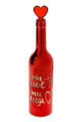 Украшение для интерьера светящееся Бутылка - Моя любовь