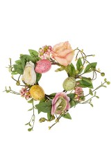 Венок Пасхальный с розами