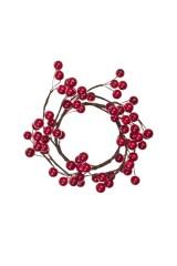Украшение для интерьера Венок - Красные ягодки
