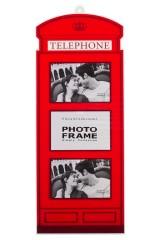 Рамка для 3-х фото Английская телефонная будка