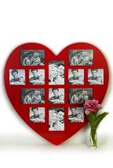 Рамка для 13-ти фото Сердце