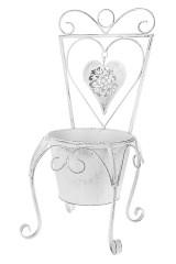 Кашпо садовое Стульчик с сердцем