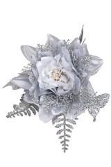 Цветок декоративный Прекрасный цветочек с бабочкой
