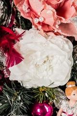 Цветок декор. Заснеженная роза