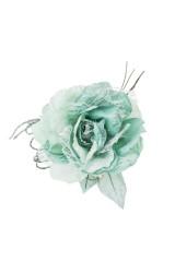 Цветок декоративный Роза с кружевом