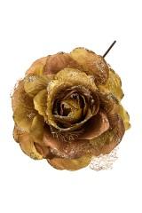 Цветок декоративный Золотая роза