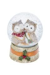 Шар со снегом Озорные совята