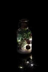 Украшение для интерьера светящееся Бутылка - Еловая веточка в снегу