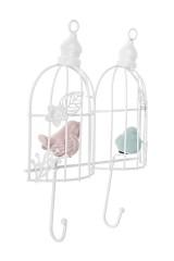 Вешалка декоративная Птички в клетках