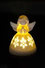 Украшение для интерьера светящееся Ангелочек с узором