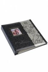Фотоальбом с рамкой для фото магнитный Серебряный узор