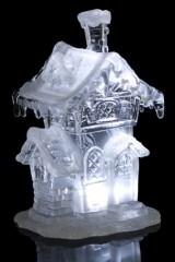 Украшение для интерьера светящееся Заснеженный дом с трубой