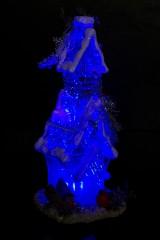Украшение для интерьера светящееся Сказочный дом со снегирями