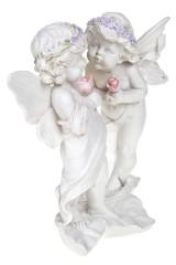 Фигурка садовая Влюбленные с цветами