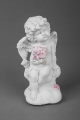 Фигурка садовая Ангел с букетом