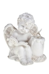 Украшение для интерьера светящееся Читающий ангелочек