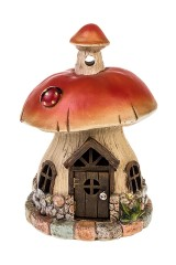 Фигурка садовая с фонарем Белый гриб