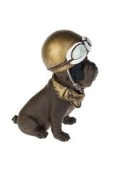 Фигурка Мопс в шлеме