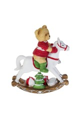 Фигурка Мишка в свитере на коне
