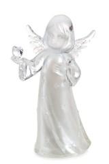 Фигурка светящаяся Ангелочек с сердцем