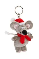 Брелок Мышка в колпачке и с шарфиком