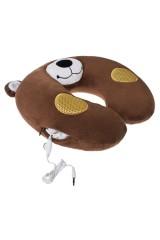 Подушка-подголовник со стереодинамиками Мишка
