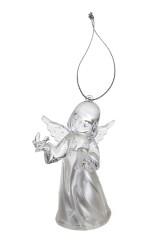 Украшение декоративное светящееся Ангелочек с птичкой