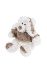 Игрушка мягкая Мишка в свитере и ушанке