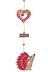 Украшение декоративное Ежик с сердцами