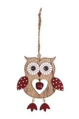 Украшение декоративное Влюбленная совушка