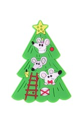 Держатель-магнит Мышки на елке
