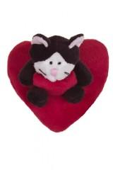 Игрушка мягконабивная Котик на сердце