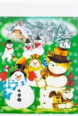 Набор аппликаций новогодних Дед Мороз