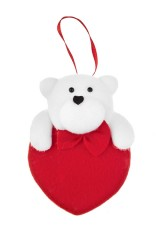 Украшение декоративное Мишка на сердце