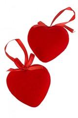 Набор столовый новогодний 9-предм. Объемное сердце